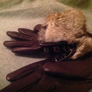 Accessories - Rabbit fur leather gloves